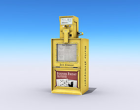 3D model Newspaper Machine