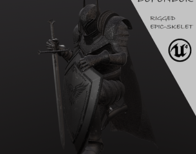 Knight-Defender 3D asset