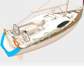 3D model PBR Yacht