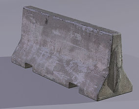 3D model Concrete Barrier