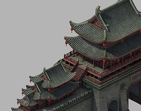 3D model Tang Kaifeng City - City Gate 01
