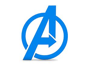 3d Avengers emblem - first 3D Print model