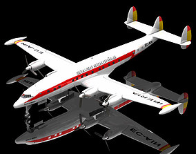 3D Lockheed Constellation Poser Vue