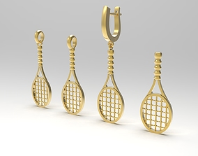 Tennis racket in variations 3D print model