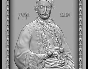 cnc Zbrush bas relief model - Hajduk Veljko