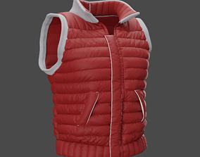 Down vest 3D
