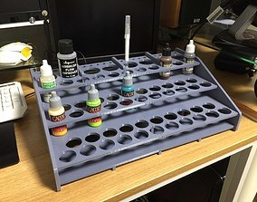 3D print model Acrylic paint stand