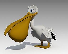 3D asset Pelican Toon Animated