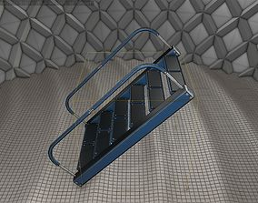 3D model Sci-Fi Stairs - 12- Blue Version