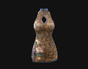 3D asset low-poly textures Dress