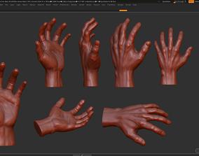 Hand 3d print model