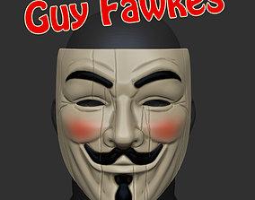3D printable model Guy Fawkes V For Vendetta Mask STL