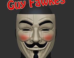 3D printable model Guy Fawkes V For Vendetta Mask STL 1