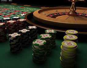 3D model Casino Roulette Table
