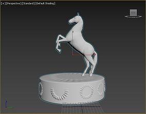 Horse figure 3D print model