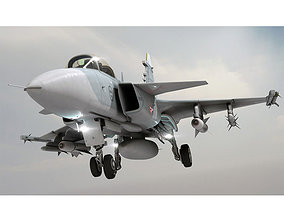 3D model JAS 39 Gripen Jet aircraft