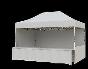 3D model Marketing tent 4-5x3 m