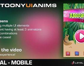 Cartoony UI Anims 3D model
