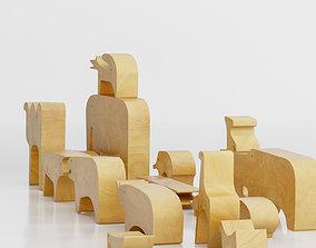 3D Enzo Mari - 16 Animals