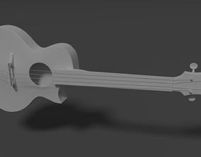 Jazz Style Ukulele 3D model