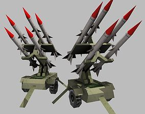 anti aircraft missile battery 3D model