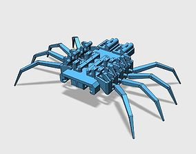8 legged spider robot 3D print model