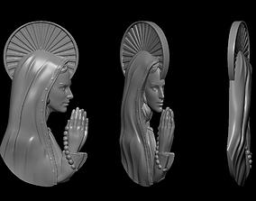 Mary Virgin pendant 3D printable model