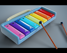3D model Rainbow Xylophone