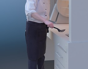 Max 10171 - Standing Cook 3D model