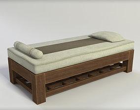 3D asset Massage Bed Low Poly