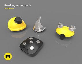 Roadhog more armor pieces cosplay 3D printable model