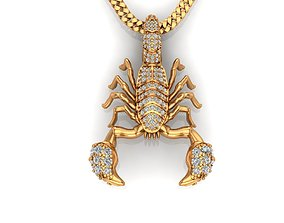 3D print model Scorpion Pendat