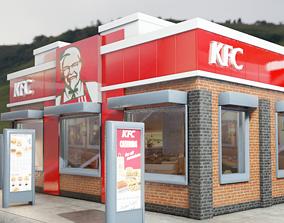 kfc restaurant 3D asset