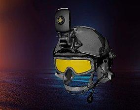 Soldier Helmet bulletproof 3D model realtime