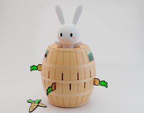 3D print model Stab Pirate - Rainbow Bunny version