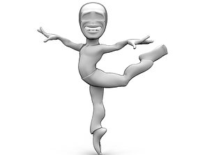 Abstract dancing character 3D asset