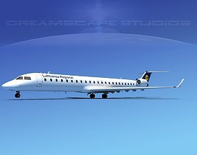 3D Bombardier CRJ900 Lufthansa Regional
