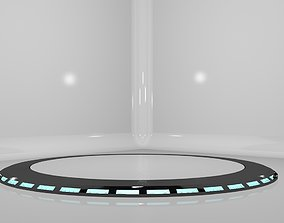 Car Platform Round 3D model accessories