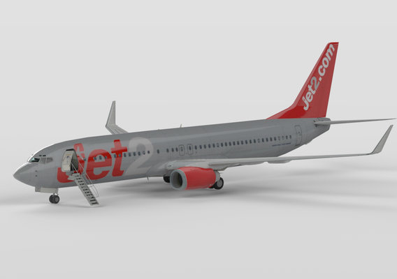 Boeing 737-800 in Jet2 Grey Livery