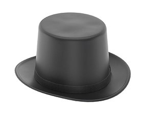 Lincoln Felt Top Hat 3D asset