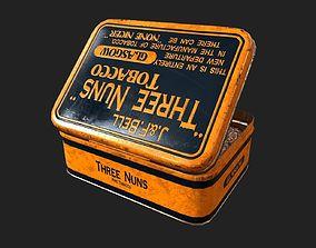 3D model game-ready Old Tobacco Tin - Three Nuns