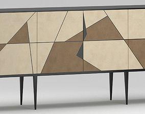 3D Achille Salvagni Gio Pergamena Cabinet