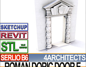 Renaissance Doric Door E Revit stl 3D print model