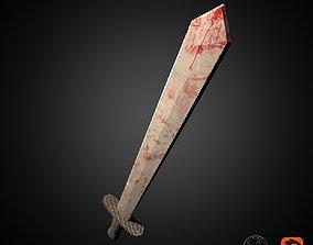 3D asset game-ready Simple Sword