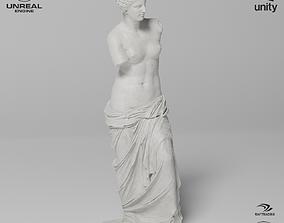 Venus de Milo Sculpture VR AR Mobile-ready 3D asset