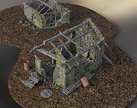 3D model Derelict Buildings for DAZ Studio