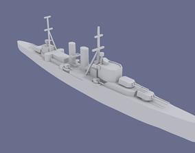 3D printable model HMS Exeter