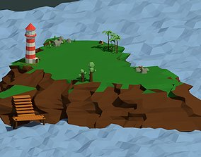 3D model Low Poly Island Pack