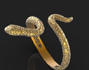 3D print model printable Snake ring