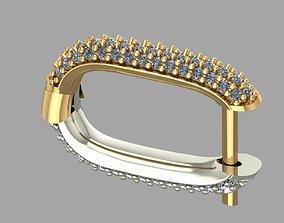 3D printable model GC GOLD E064- Diamond Cartilage Earring